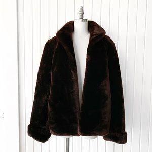 Vintage 1950s Mouton Fur Sheepskin Teddy Coat